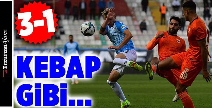 Erzurumspor Adanaspor'u 3 golle geçti