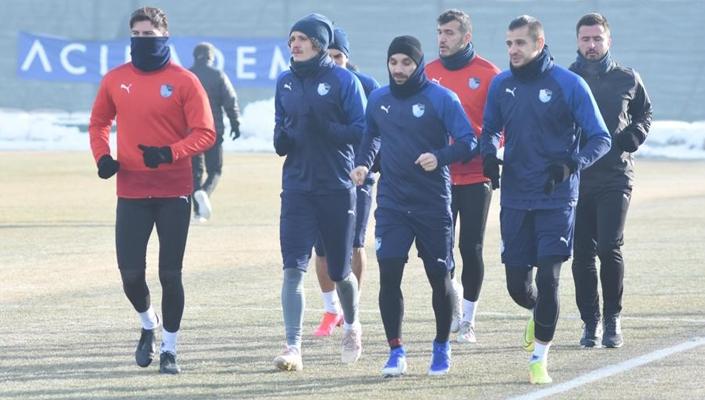 Erzurumspor Ankaragücü hazırlıklarını sürdürdü