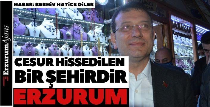 İBB Başkanı'ndan Erzurum ziyareti!