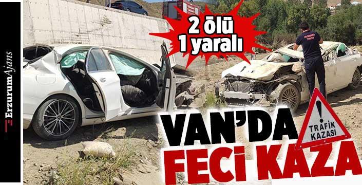 Irak plakalı otomobil kaza yaptı 2 ölü, 1 yaralı