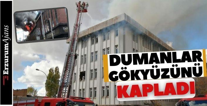Metruk binada yangın!