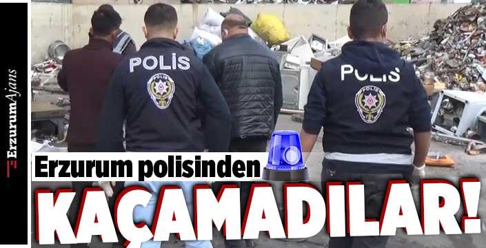 Polisten hurdacılara operasyon