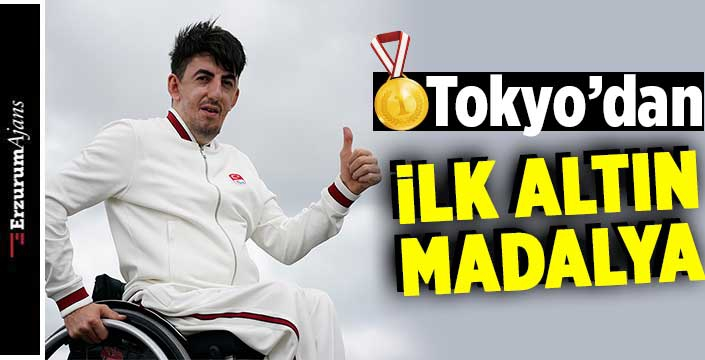 Tokyo'da ilk altın madalya Abdullah Öztürk'ten